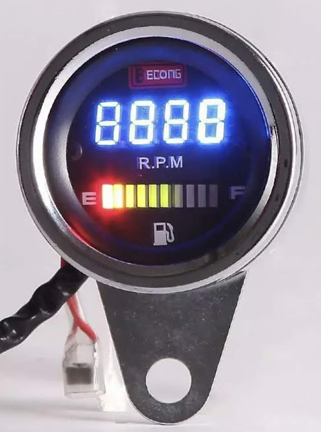 e419b6570b12 Reloj Digital Universal para Motos 62mm 2 en 1 Tacometro RPM-Fuel ...